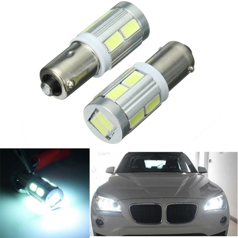 2x BA9S H6W Car Auto 10 LED Side Wedge Tail Light Lamp Bulbs Canbus Error Free For BMW 3 Series F30 F31 deechooll 2pcs wedge light for mazda 2 3 5 6 mx5 rx8 cx7 626 gf gg ge gw canbus t10 57smd 6w led clearance xenon lighting bulbs