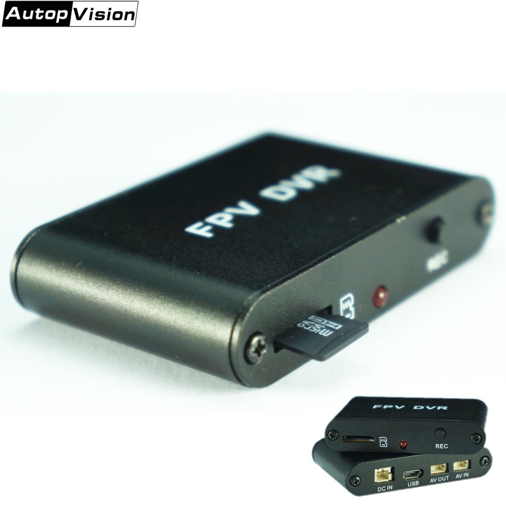 FREE SHIPPING Micro 1CH HD DVR AV Recorder 1280x720 30f/s HD FPV DVR Support 32G TF Card Works With CCTV ANALOG Camera D1M