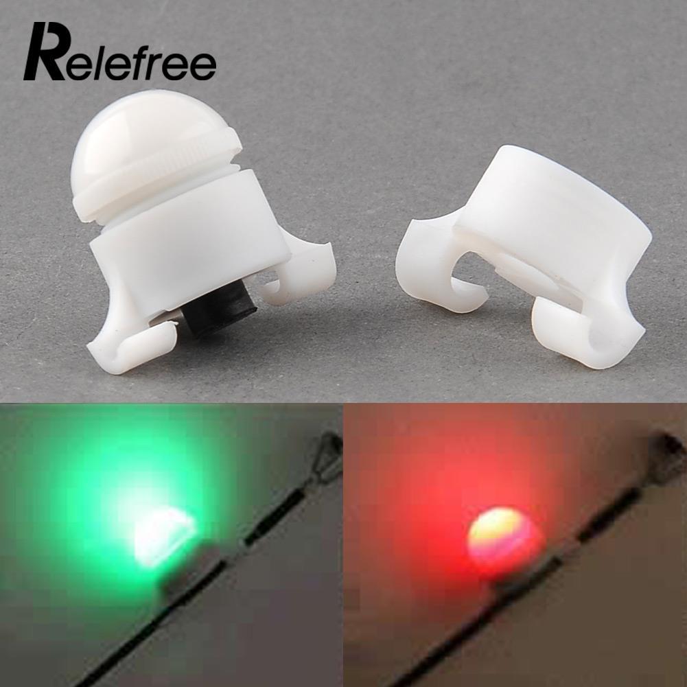 Relefree 5PCS /LotNight Fishing Rod Tip Clip on Fish Bite Alarm LED Light  Light Strike Alert Glow Stick Bite Alarm