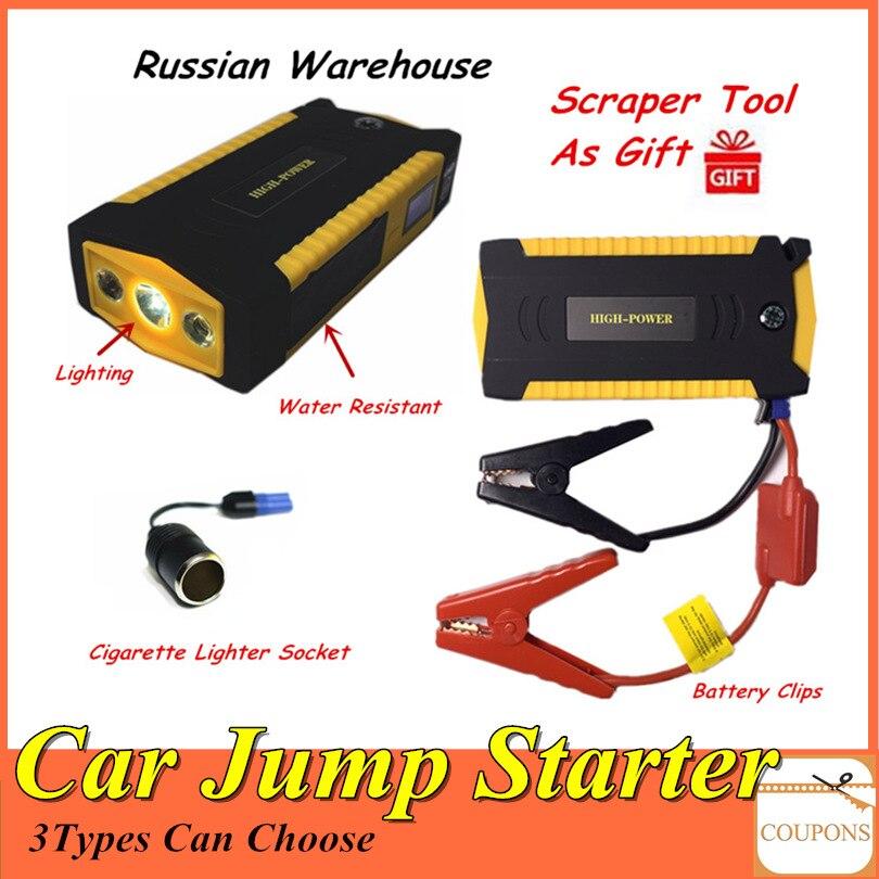 Démarreur portatif de saut de voiture 16000 mah batterie externe 12 V Booster de batterie de voiture de secours pour le dispositif de démarrage de voiture