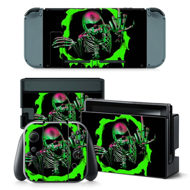 Cool Skull Design Skin Stickers For Nintendo Switch Console Vinyl Protective Game Decal Sticker Design Stickers Forstickers Stickers Aliexpress