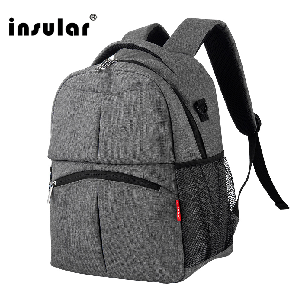 Maternity Diaper Bags 2018 Maternity Nappy Bag Brand Zipper Backpack Nursing Bag Large Capacity Solid Backpack Nappy Canvas Bag