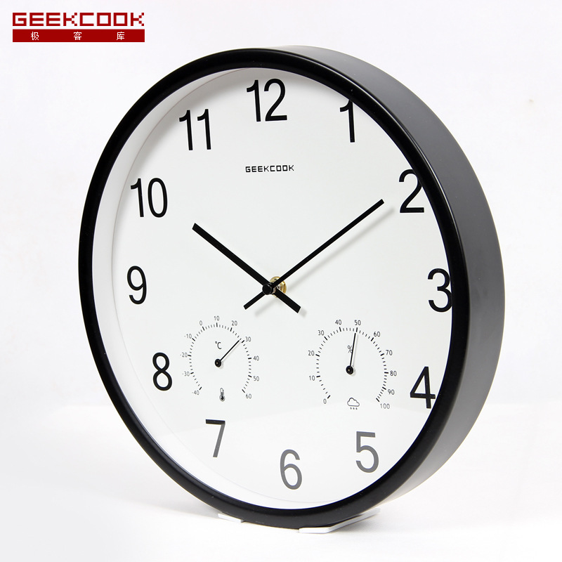 Digital Wall Clock Modern Design With Temperature Hygrometer