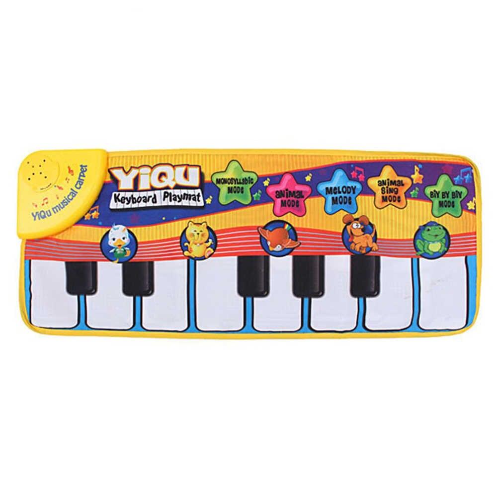 Детское игровое одеяло разных цветов, детское пианино с животными, музыкальное касание, Поющая, гимнастический коврик, игрушка, подарок, музыкальный ковер
