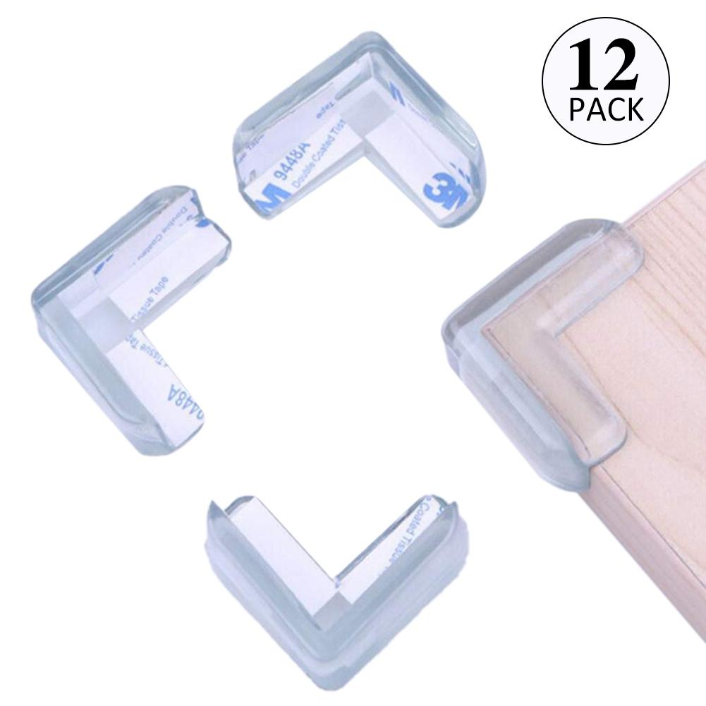 12Pcs Transparent Baby Silicone Safety Protector Table Corner Protection From Children Anticollision Edge Corners Guards Safety