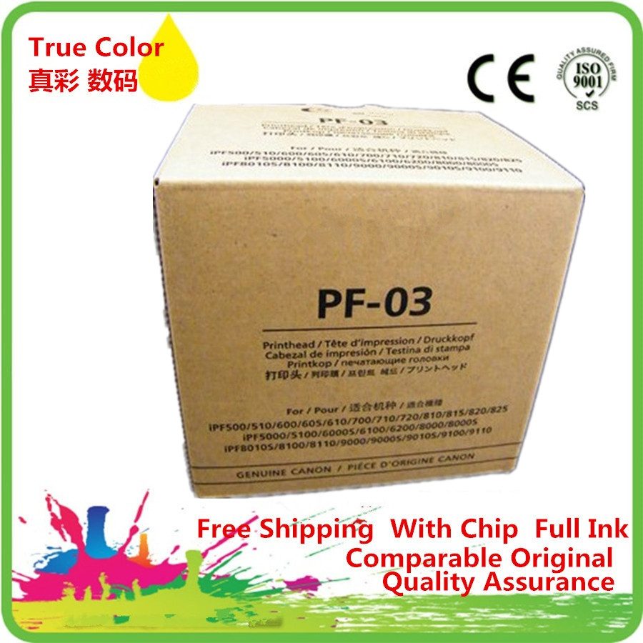 PF-03 PF 03 PF03 Printhead Print Head Remanufactured For Canon iPF 500 510 600 605 610 700 710 720 810 815 820 825 iPF5000 6000S waste ink box maintenance tank chip resetter for canon ipf500 510 600 610 700 710 720 810 815 820 825 large format plotters