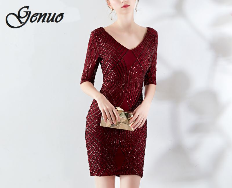 Genuo Black Bandage Dress 2019 Summer Bodycon Mini Clubwear Pink Mesh Sexy Patchwork Party