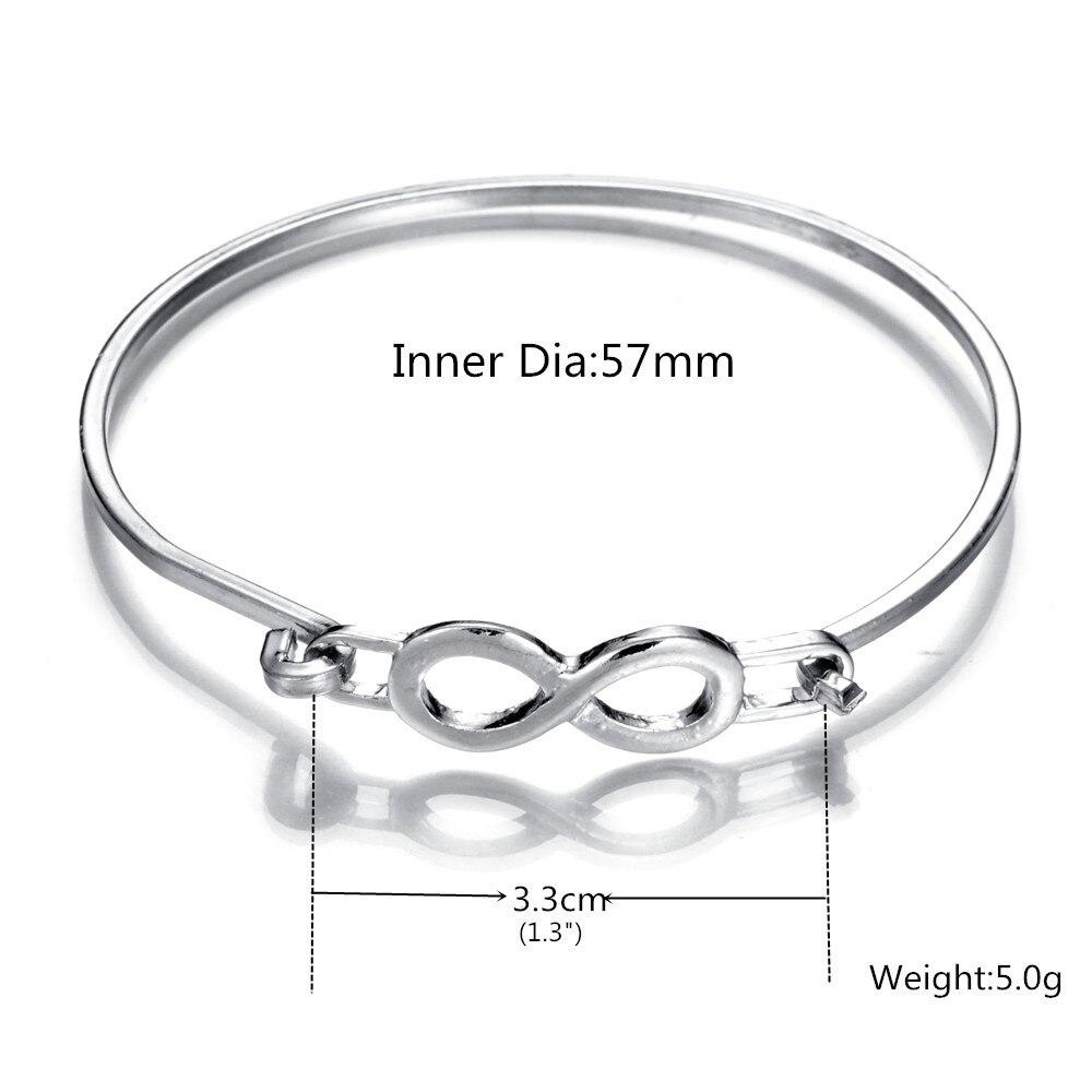 Minimalist Silver Infinity Style Bracelet&Bangle Thin Wire Metal ...