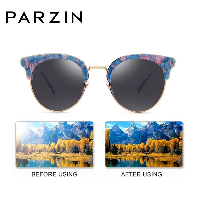 PARZIN Polarisierte Vintage Sonnenbrille Frauen Übergroßen Weiblichen Sonnenbrille Damen Fahren Anti Glare Gläser Zubehör 9652 - 2
