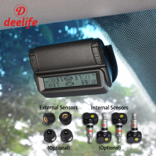 hot deal buy deelife tpms tire pressure monitoring system alarm systems security car windshield tyre internal external sensor solar monitor