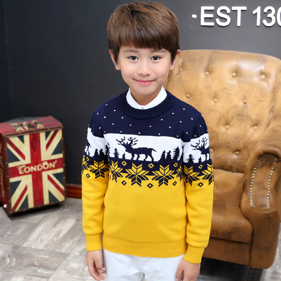 Pullover Teenager Jungen Us 13 27 30 Off Famli Christmas Sweater For Kids Boy Teenager Autumn Winter Knitted Pullover Kids Ribbed Sweater Casual Full Sleever Print Top In