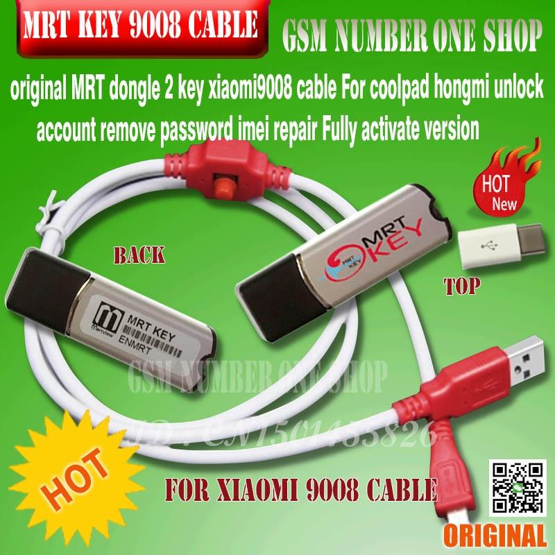 MRT CLÉ 2 MRT DONGLE CLÉ mrt clé 2 + pour xiaomi hongmi 9008 câble Pour coolpad hongmi déverrouiller compte supprimer mot de passe imei de réparation