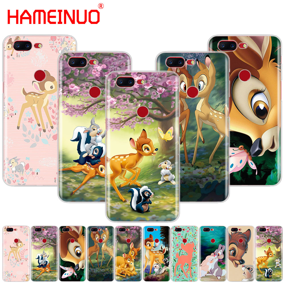 HAMEINUO Cute Bambi fawn hearts <font><b>anime</b></font> design cover phone <font><b>case</b></font> for Oneplus <font><b>one</b></font> <font><b>plus</b></font> 6 5T 5 3 <font><b>3t</b></font> 2 X A3000 A5000 image