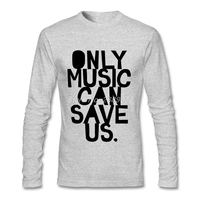 New Coming Men Custom Made T Shirts Music Save Us Cheap Luxury Letter Printing Clothing Long