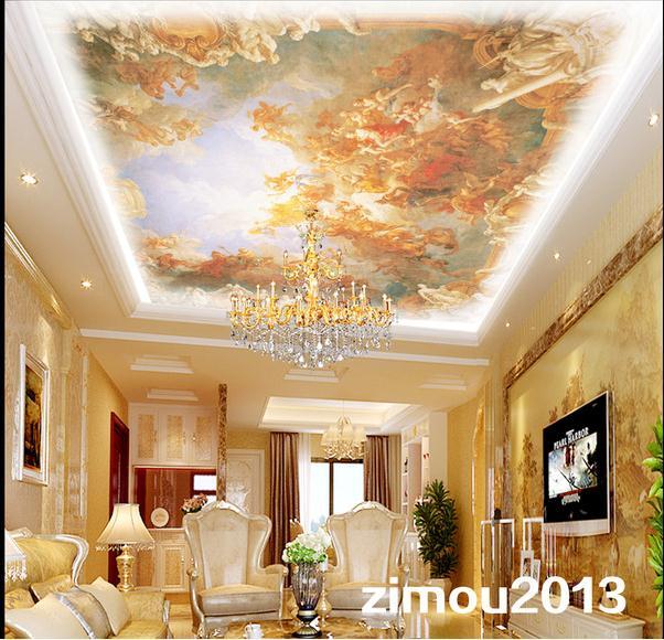 Custom 3d Ceiling Murals Wallpaper European Frescoes On The Ceiling Ceiling Wall Paper Wallpaper