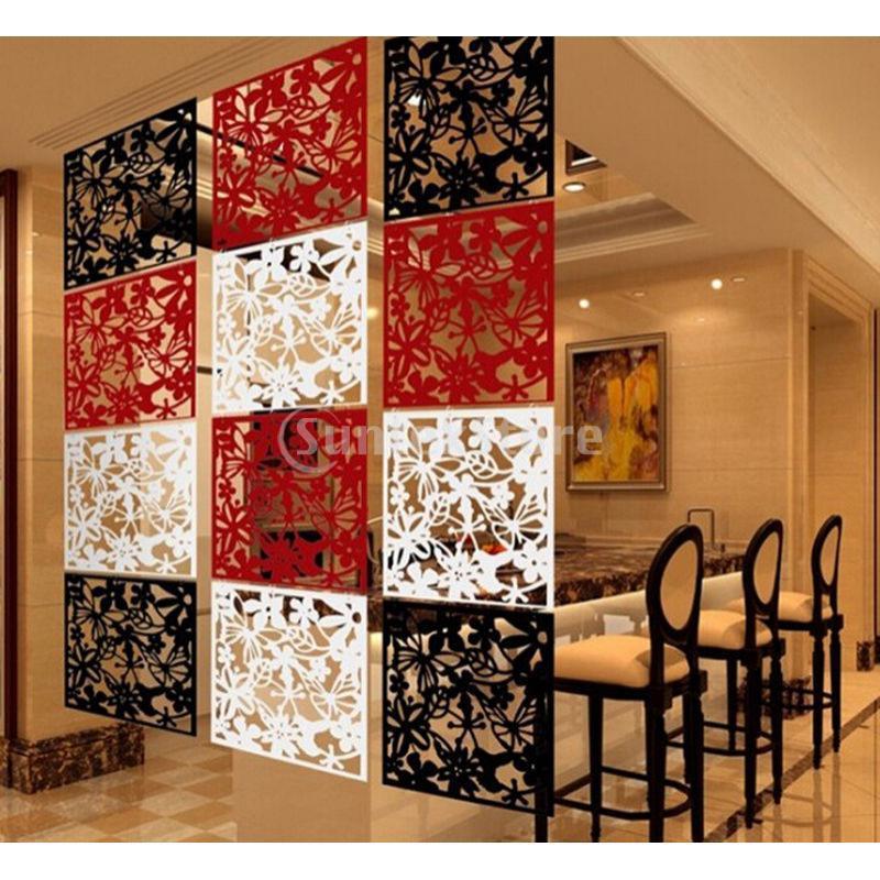 4pcs wall sticker hanging screen curtain butterfly flower room divider blackchina