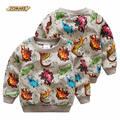 Новые Весенние Дети С Длинным Рукавом Футболки Динозавров Печатных Детский Пуловер Топы Для Мальчиков Мода Новый Стиль Кофты Мальчики Одежда