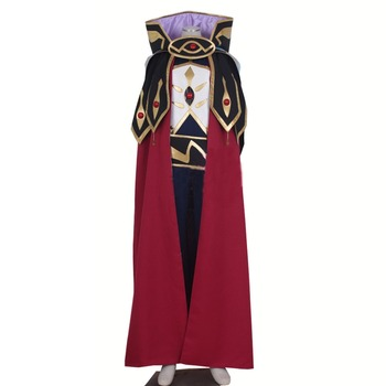 2017 Code Geass knight of seven Cosplay Costumes Men's Cloak Tuxedo Halloween Party Suit - Any Size