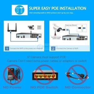 Image 2 - H.265 H.264 8CH 48V CCTV POE NVR caméra IP Surveillance de sécurité système de vidéosurveillance P2P ONVIF 4*5 MP/8*4 MP enregistreur vidéo réseau HD