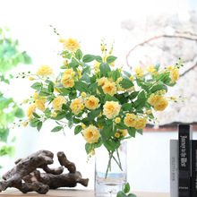 Klonca New Fresh Silk Flower 64cm 10pcs/lot Artificial Chinese Rose Fake Home Wedding Party Decoration