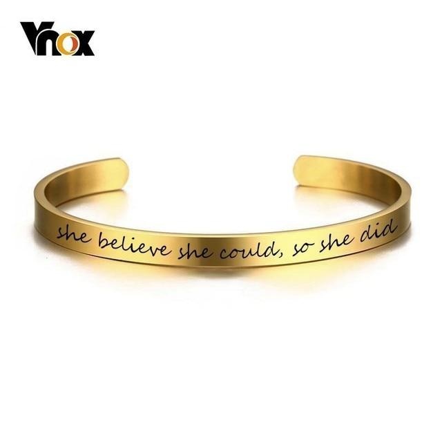 Vnox Inspirational Cuff...