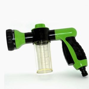 Image 1 - 8 ב 1 אקדח מים לשטוף את המכונית בלחץ גבוה רכב אוטומטי אקדח מים קצף אקדח מים מכונת כביסה קצף בית הגינה חיצוני נייד אקדח