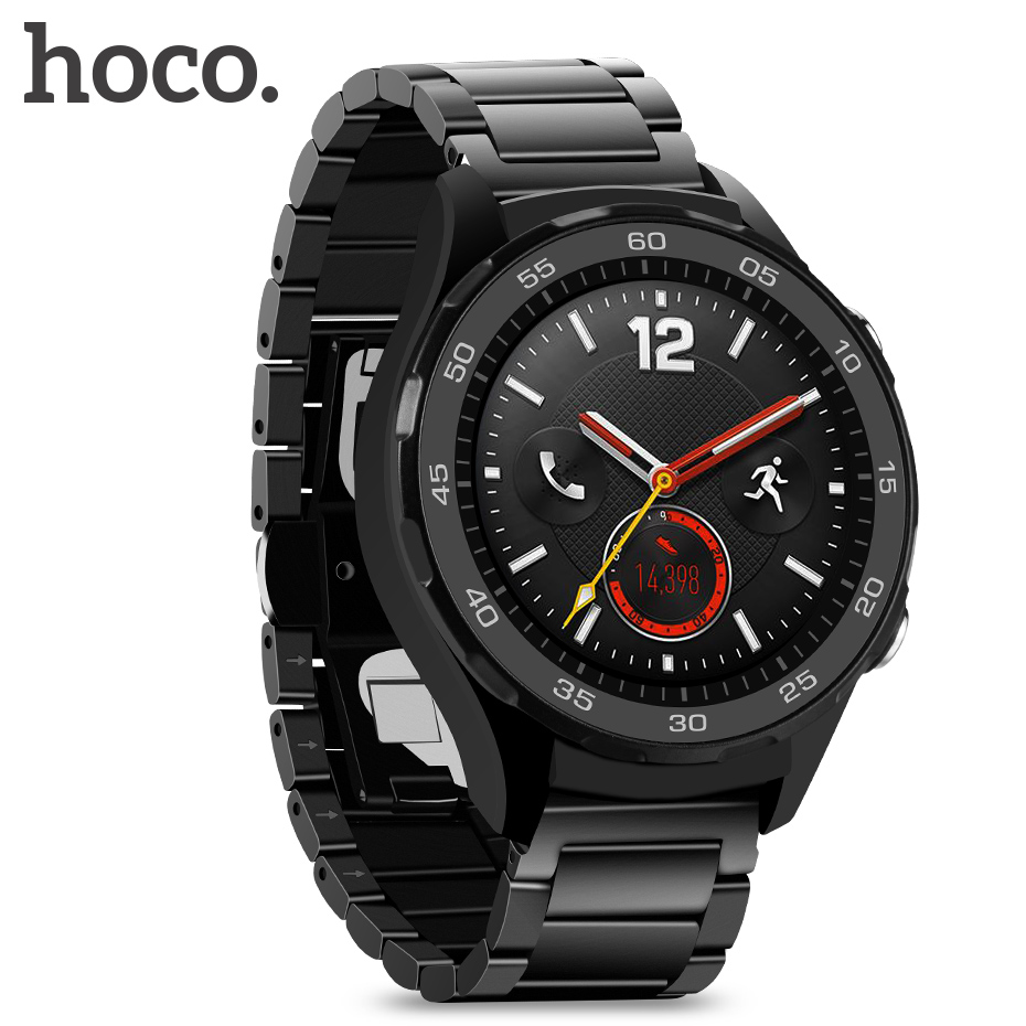 HOCO Stainless Steel bracelet Strap for Huawei watch 2 watchbands Metal Clasp for huawei watch band Butterfly buckleHOCO Stainless Steel bracelet Strap for Huawei watch 2 watchbands Metal Clasp for huawei watch band Butterfly buckle