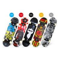 Four Wheeled Skateboard Maple Wood Material Freestyle Skateboard Skate Deck Long Board Cool Adult Teenager Skateboards