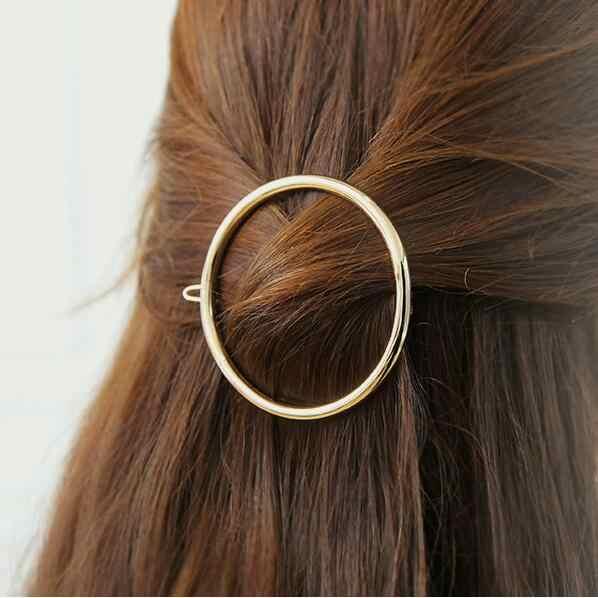 แฟชั่นโลหะคลิปผม Barrettes Hairpin Barrette กรงเล็บผู้หญิง TREND Charm Moon รอบสามเหลี่ยม