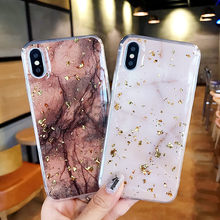 Marble Gold Foil Case for iphone XS MAX XR X 10 6 6s 8 7 Plus Soft Silicone TPU Dropproof Protection Phone Shell Cover(China)