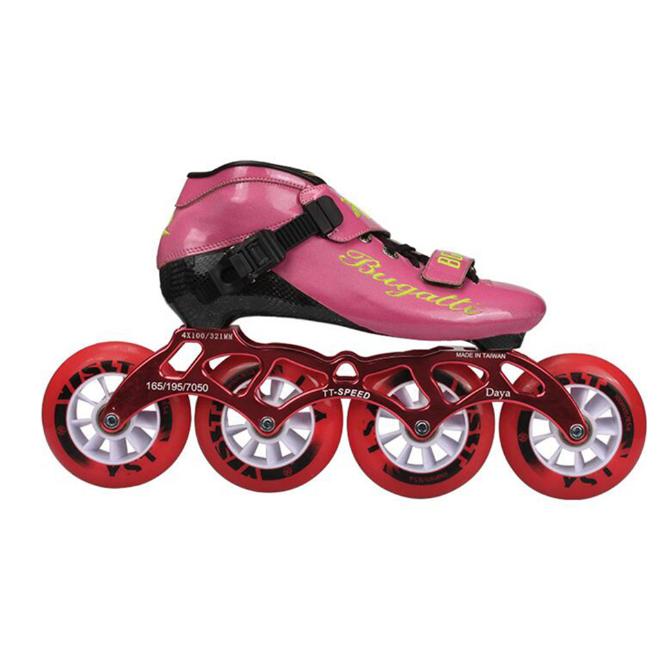 Japy Speed Inline Skates Carbon Fiber Professional 4*100/110mm Competition 4 Wheels Racing Skating Patines Similar Powerslide 39 japy cityrun speed inline skates carbon fiber professional competition skates 4 wheels racing skating patines similar powerslide