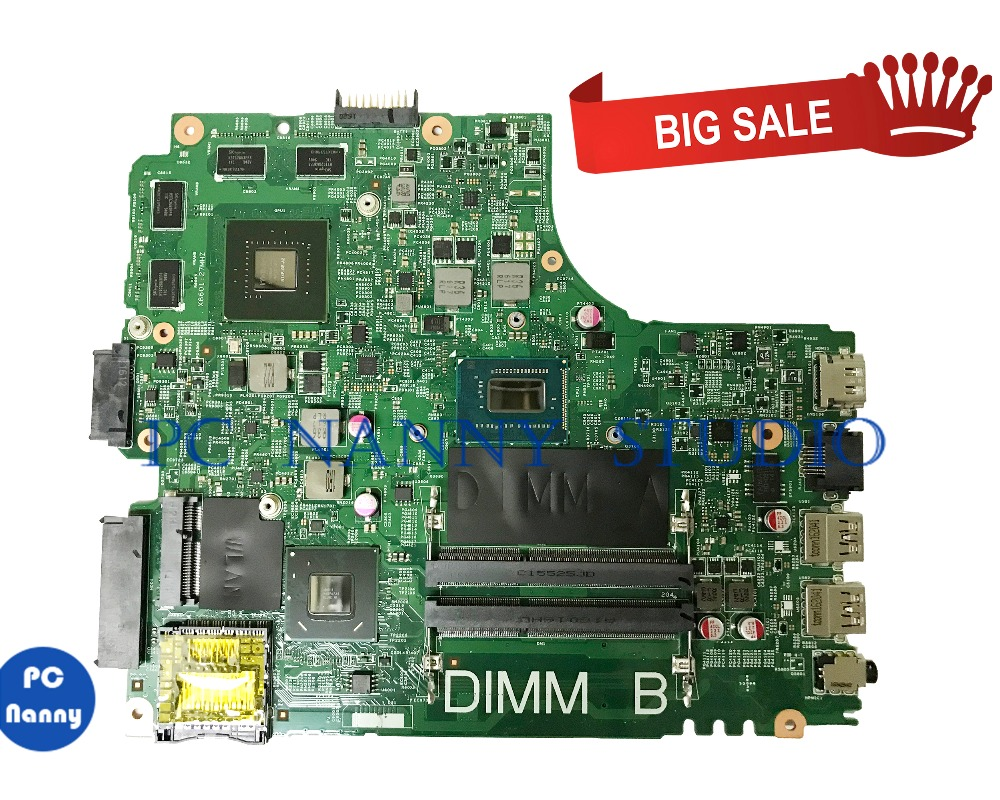 PCNANNY 01fk62 1fk62 for <font><b>Dell</b></font> inspiron <font><b>3421</b></font> 5421 Laptop motherboard <font><b>i5</b></font>-3337u 12204-1 ddr3 tested image