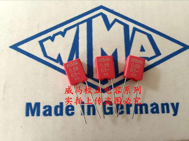 2019 Hot Sale 10pcs/20pcs Germany WIMA MKS2 63V 0.68UF 63V 0.68UF 684 680n P: 5mm Audio Capacitor Free Shipping
