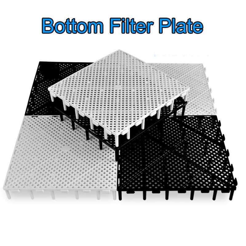 1pc Aquarium Fish Tank Filter Bottom Isolation Board Net