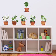 New personality decoration wall stickers PA302wall potted plants fresh can be removed