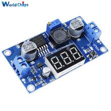 Cc 4 V-40 V a 1 V-37 V LM2596 convertidor de potencia ajustable voltímetro LED con pantalla de medidor de voltaje de alta calidad