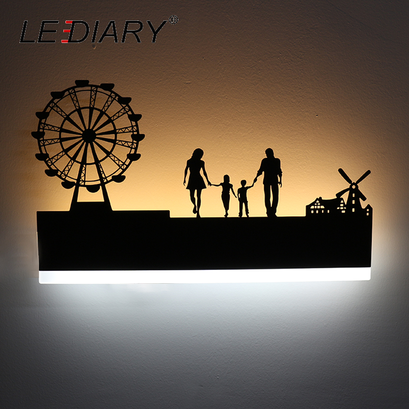 LEDIARY Retro LED Wall Lamp Creative Painting 110 240V Modern Black Sconce Decoration For Bathroom Living Bed Room Animal-in LED Indoor Wall Lamps from Lights & Lighting