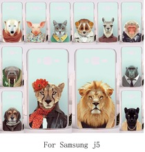 Good Selling Cool Animal Cover For Samsung Galaxy J5 2015 j500 Cases Animal Dressing Clothes Pattern Plastic and Silicon Cover