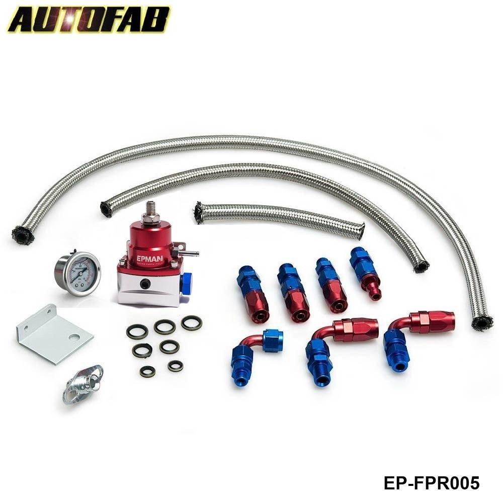 Prix pour Autofab-universal réglable régulateur de pression de carburant kit huile 0-160psi gauge universal-6an pour honda accord 03-05 af-fpr005
