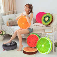 Подушка в виде фрукта, 40 см/33 см, 3D подушка в виде фрукта, хлопок, офисное кресло, задняя подушка, подушка для домашнего декора, подушка для сид...
