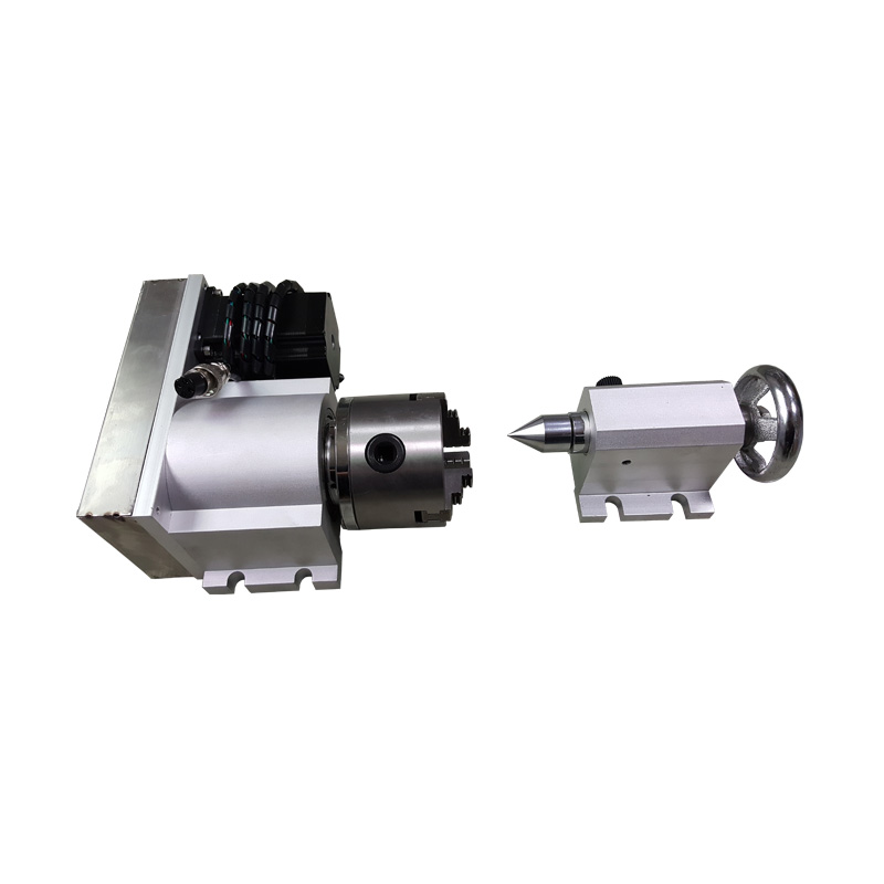 4th axis three-jaw chuck 80mm with dust cover Rotary Axis CNC Tailstock for CNC machine4th axis three-jaw chuck 80mm with dust cover Rotary Axis CNC Tailstock for CNC machine