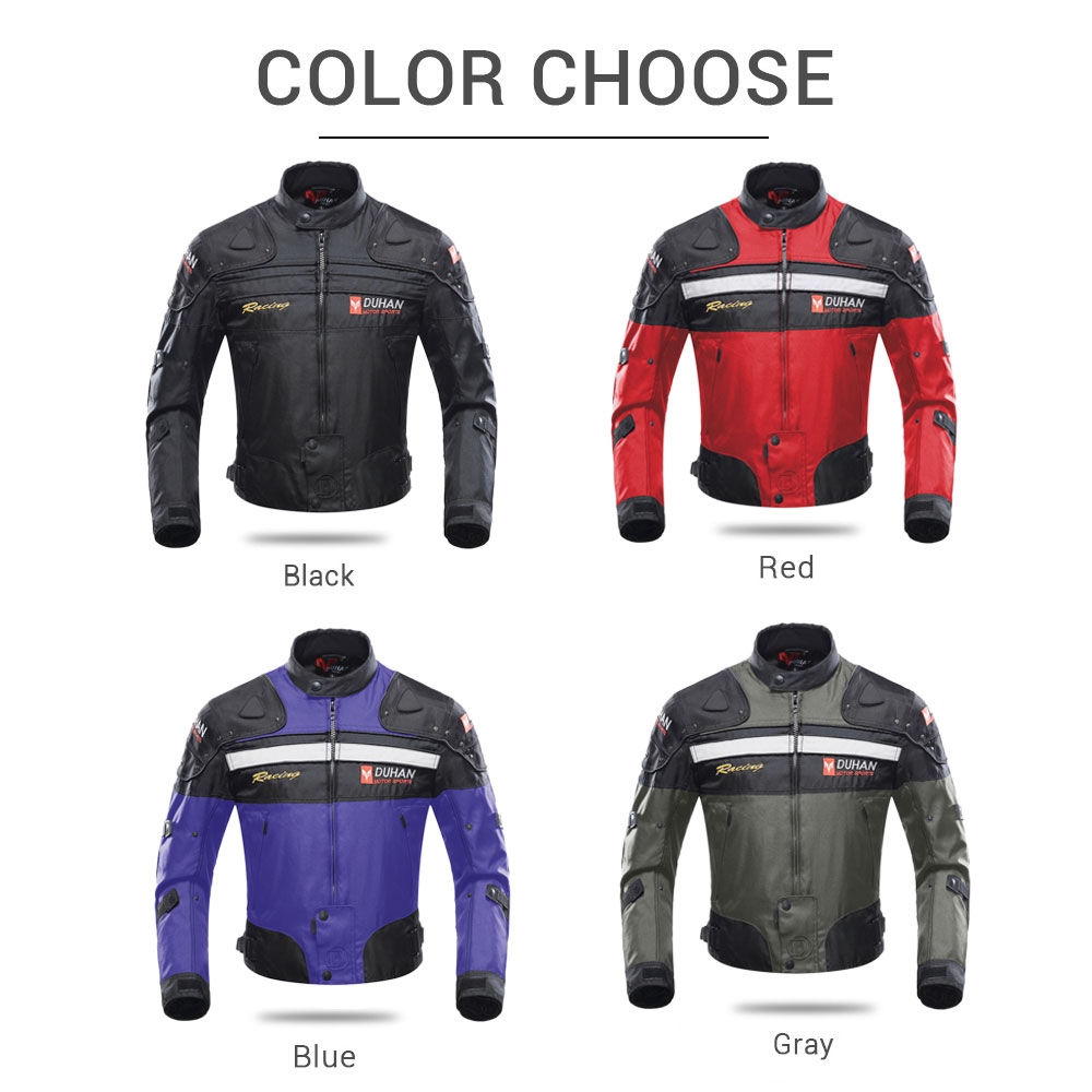 Image 5 - DUHAN Motorcycle Jacket Protective Gear Moto Men Motocross Off Road Racing Jacket Body Armor+ Riding Pants Clothing Set-in Jackets from Automobiles & Motorcycles