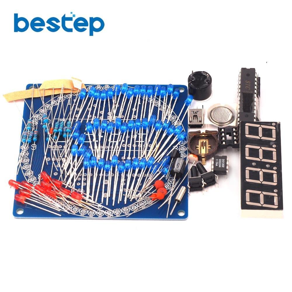 3 92 16 De Descuento Kit Giratorio Ds1302 Pantalla Led Digital Módulo Alarma Reloj Digital Electrónico Pantalla De Temperatura Led Diy Kit De