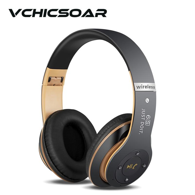 VCHICSOAR Bluetooth Headphones Wireless Foldable Headset HiFi 3D Stereo Earphones with Mic Support FM TF Card