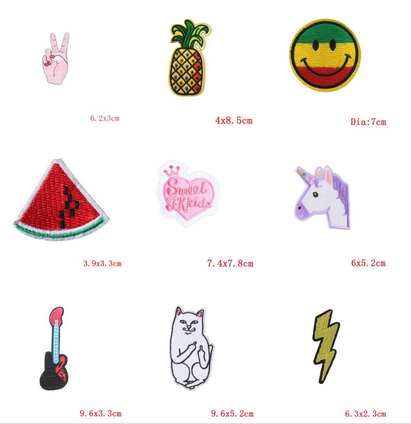 Mixed Patches For Clothes Cute Cartoon Applique Embroidered Sticker Iron On DIY Garment Kids Sewing Accessories Badges @1335