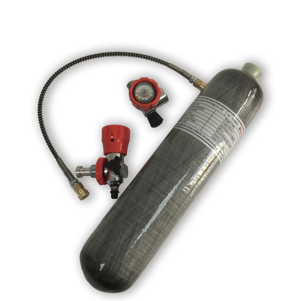AC102101 2L CE M18*1.5 HPA Paintball PCP Tank 300bar Carbon Fiber Cylinder For Diving With Valve Filling Station 2019 Acecare
