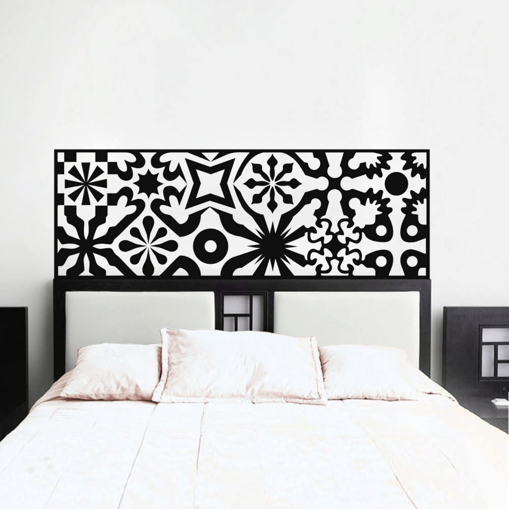 Quilted headboard wall decal vinyl art wall sticker bed decoration quilted headboard wall decal vinyl art wall sticker bed decoration beautifl art bedroom decor 27h x76w in wall stickers from home garden on amipublicfo Images