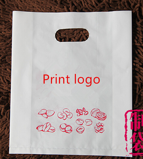 W35 H45 8cm Plastic Bag200pcs Customized Logo Printing Bags