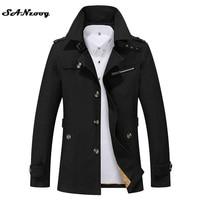 Plus Size 5XL 2016 New Fashion Men Jacket Coats Brand Style Fit Long Overcoat Cotton Jackets