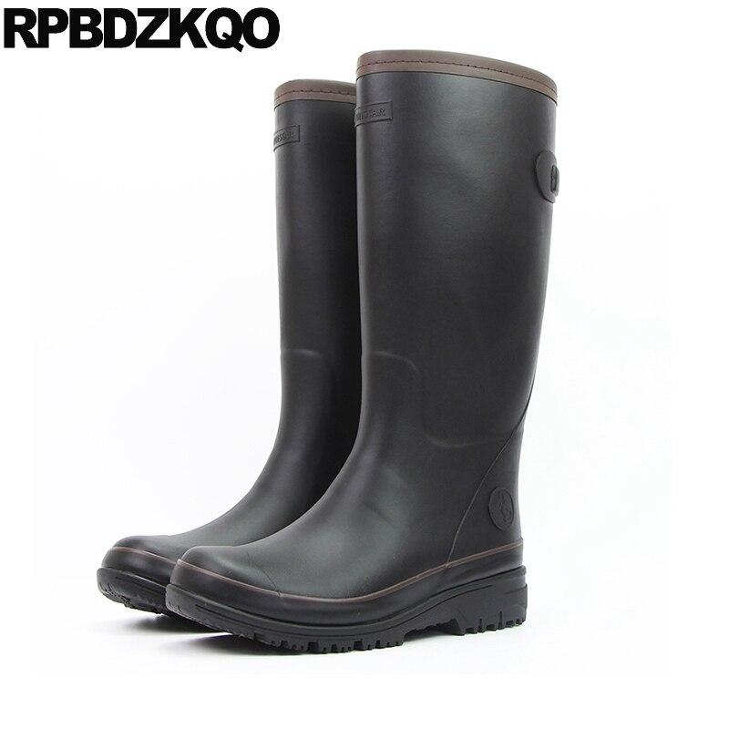 Black Cheap Rainboots Green Autumn Plus Size Mid Calf 2018 Shoes Rain Rubber Fishing Boots Men Tall Waterproof Casual Non Slip цена 2017